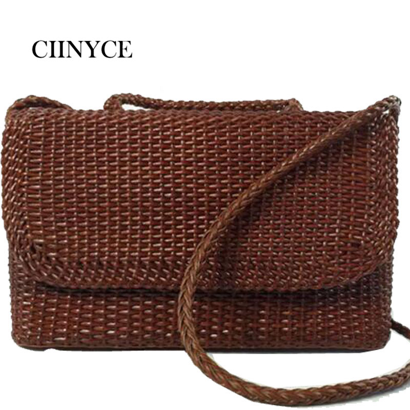 Handmade Woven True Genuine Cow Leather Handbags Tote Fashion Women Shoulder Crossbody Ladies Knitting Cover Bags Female Tote new 100% handmade woven leather handbags tote women shoulder bags with detachable zipper pouch