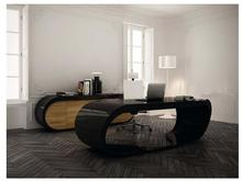 Fashion stylish modern black and white piano paint desk profiled arcuated creative side table