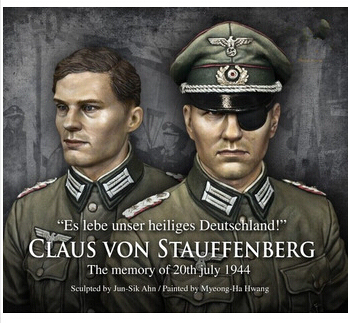 Scale Models 1/10 WW2 Germany Stauffenberg (including two heads) WWII resin bust Free Shipping