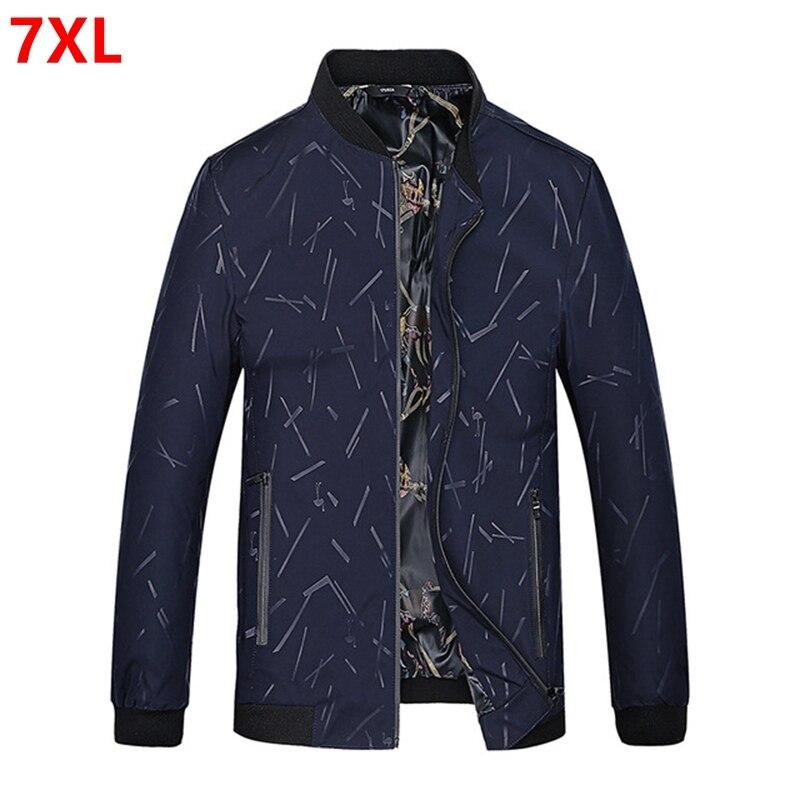 2018 新メンズジャケットプラスサイズ 7XL ビッグサイズジャケット若い脂肪ファッションジャケット黒大サイズスリム 6XL 5XL 4XL 3XL  グループ上の メンズ服 からの ジャケット の中 1