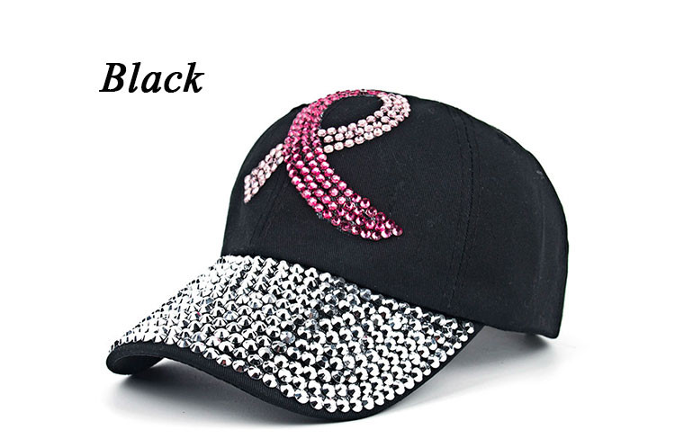 Cancer Awareness Ribbon Baseball Cap - Black