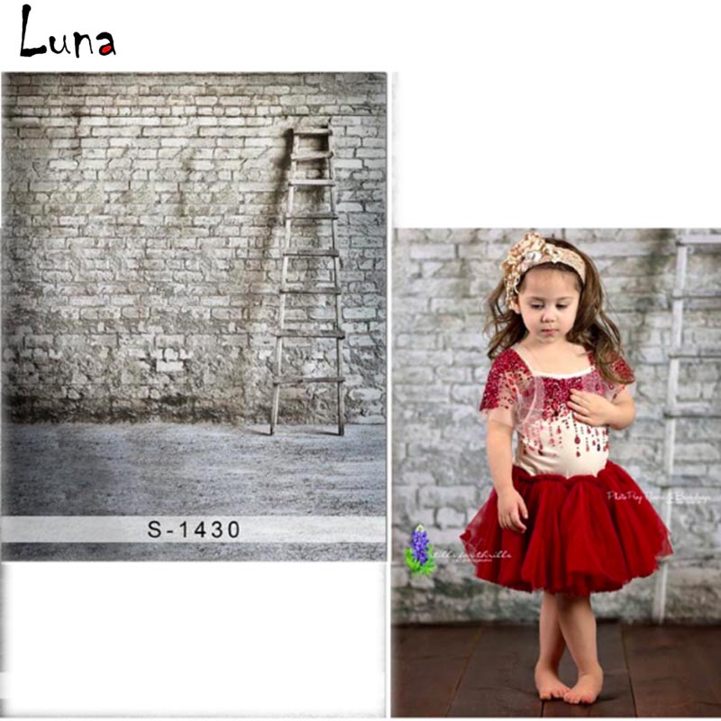 MEHOFOTO Brick Wall Vinyl Photography Background For Children Wood Stepladder New Fabric Flannel Background For photo studio1430