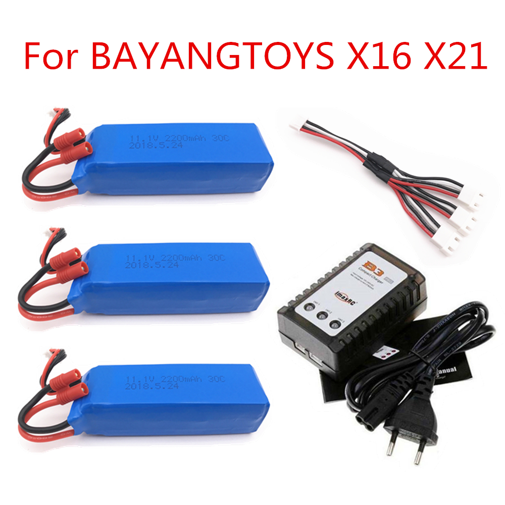 <font><b>BATTERY</b></font> FOR BAYANG BAYANGTOYS X16 X21 X22 RC Quadcopter Spare Parts <font><b>11.1V</b></font> <font><b>2200mAh</b></font> Banana <font><b>Battery</b></font> For RC Camera Drone Accessories image