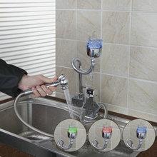 Новый kpah вытащить 92348-1 бортике одно отверстие Chrome керамическая раковина кухня Cozinha torneira смесители, смесители
