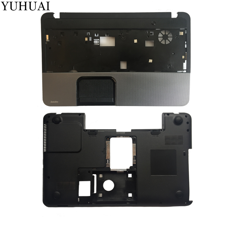 NEW case cover For TOSHIBA L850 L855 C850 C855 C855D Palmrest COVER /Laptop Bottom Base Case Cover black H000038850 sheli v000275560 laptop motherboard for toshiba satellite c850 c855 l850 l855 6050a2541801 uma hd 4000 hm76 main board works