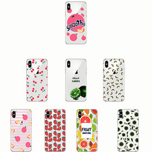 peach banana cherry lemon pattern  soft shell Soft Phone Case Cover for IPhone 11 XR 5S SE 7 8 Plus 6 6s XS MAX