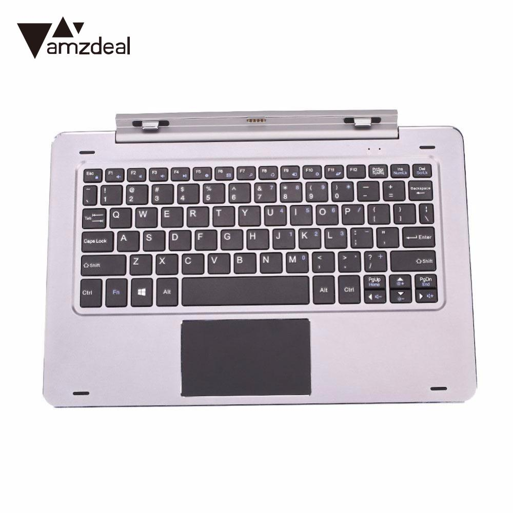 amzdeal Keyboard Case Keypad For Hibook Tablet PC Protective Cover Detachable Waterproof Dustproof Rotary bearing keyboard case new detachable official removable original metal keyboard station stand case cover for samsung ativ smart pc 700t 700t1c xe700t