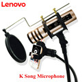 Mobile K Sing Microphone Stereo Handheld Karaoke Microfone Condenser Microphone Mini Noise Cancellation Mikrofon Lenovo UM10C