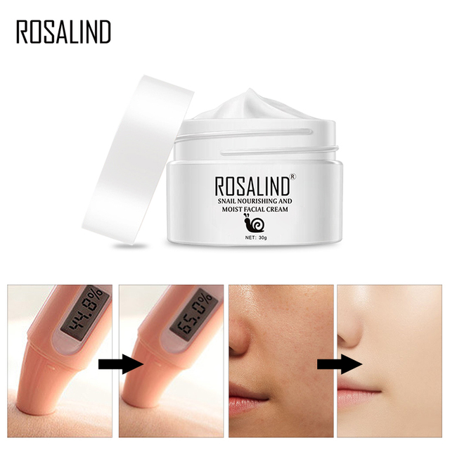 ROSALIND Hyaluronic Acid Snail Face Cream Anti Wrinkle Snail Facial Cream Skin korean Cosmetics Cream For Face Care Anti Aging