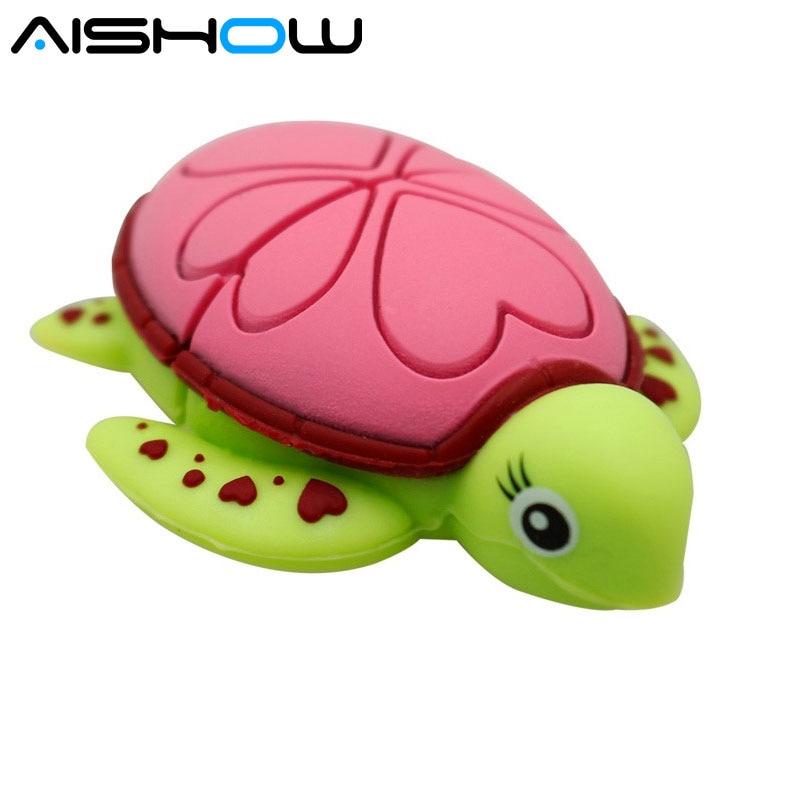 PenDrive turtle U disk USB Flash Drive Cartoon memory card 4gb 8gb 16gb pen drive 32gb 64g usb flash memory Sea turtles Gift