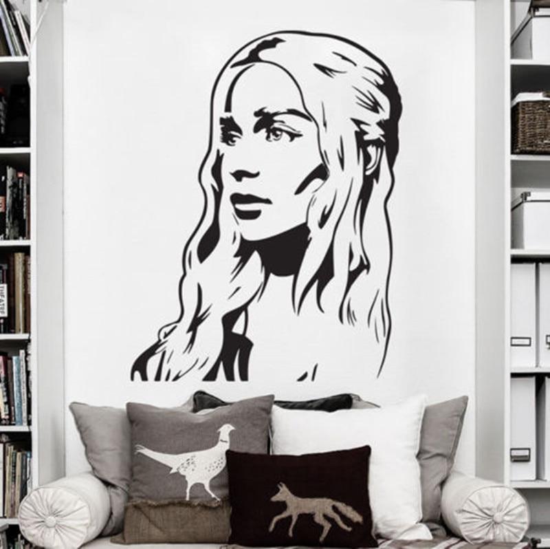 Vinyl Wall Decal Art Sticker Decor Game Of Thrones Daenerys Targaryen Khaleesi Girl Bedroom Wall Stickers D693 Wall Sticker Bedroom Wall Stickerssticker Decoration Aliexpress