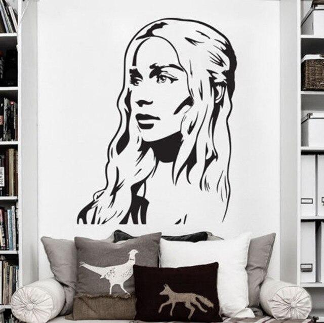 Vinyl Wall Decal Art Sticker Decor Game Of Thrones Daenerys Targaryen  Khaleesi Girl Bedroom Wall Stickers. Vinyl Wall Decal Art Sticker Decor Game Of Thrones Daenerys