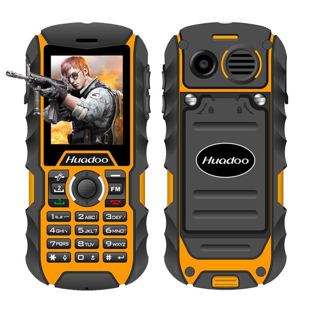 quality design f523f 6ef20 US $46.55 |Huadoo H1 IP68 Waterproof Mobile Phone FM Flashlight MP3 Support  Swimming Shockproof Dustproof Outdoor Rugged Telephone-in Mobile Phones ...