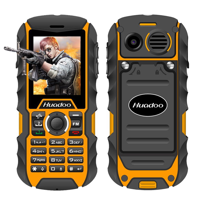 Huadoo H1 IP68 waterproof mobile phone FM flashlight MP3 support swimming shockproof dustproof outdoor rugged cell