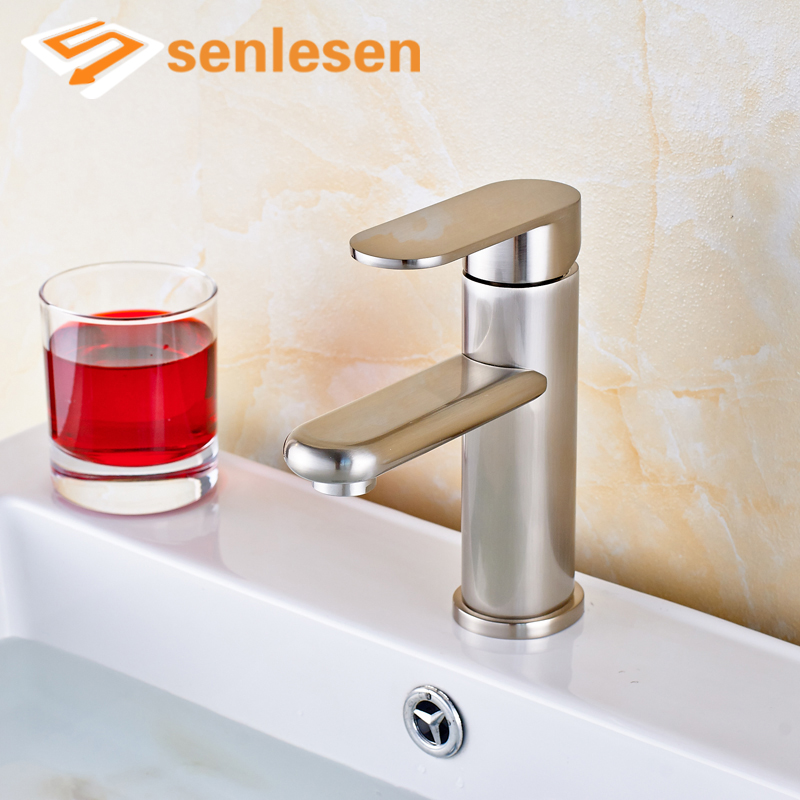 Newly Brushed Nickel Deck Mounted Single Handle Single Hole Bathroom Basin Sink Mixer Faucet стоимость