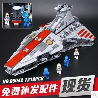 Nueva República ataque Lepin 05042 Star Wars crucero Conjunto Bloques de Construcción Ladrillos Juguetes Educativos Lucha 1200 unids regalo del muchacho