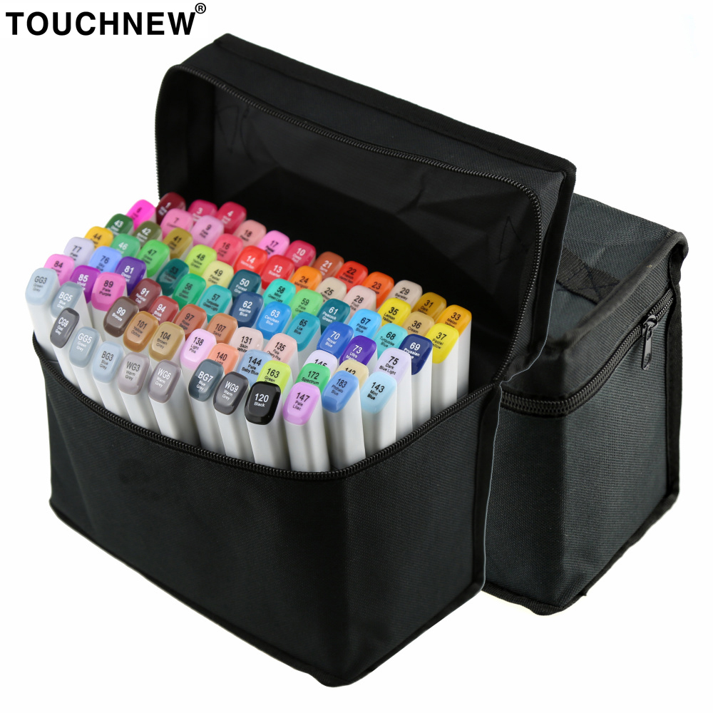 TOUCHNEW 30/40/60/80 Colors Artistic Sketch Markers Pen Alcohol Based Pen Marker Set Best For Drawing Manga Design Art Supplies touchnew 30 40 60 80 colors art markers alcohol based markers drawing pen set manga dual headed art sketch marker design pens