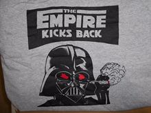 The Empire Kicks Back 420 T-shirt X-LARGE Grey Darth Vader Star Wars Strikes XL Print Tee Men Short Sleeve  free shipping майка борцовка print bar empire strikes back