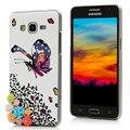 Леопарда бабочки рисунок шику кристалл алмаза жесткий пк телефон задняя крышка чехол для Samsung Galaxy премьер-страусовых G530 G530H G5308W