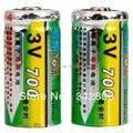 2 Pcs CR123A 3 V 700 mAh Li-em Baterias Recarregáveis
