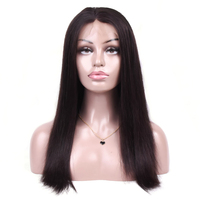 MQYQ Indian Full Lace Human Hair Wigs Natural 360 Lace Frontal Wig Straight Bob Lace Front Human Hair Wigs For Black Women