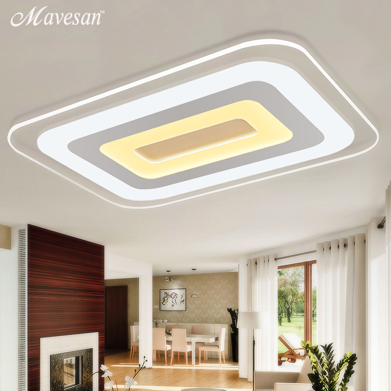 Modern Led Ceiling Lights For Indoor Lighting plafon led Square Ceiling Lamp Fixture For Living Room Bedroom Lamparas De Techo