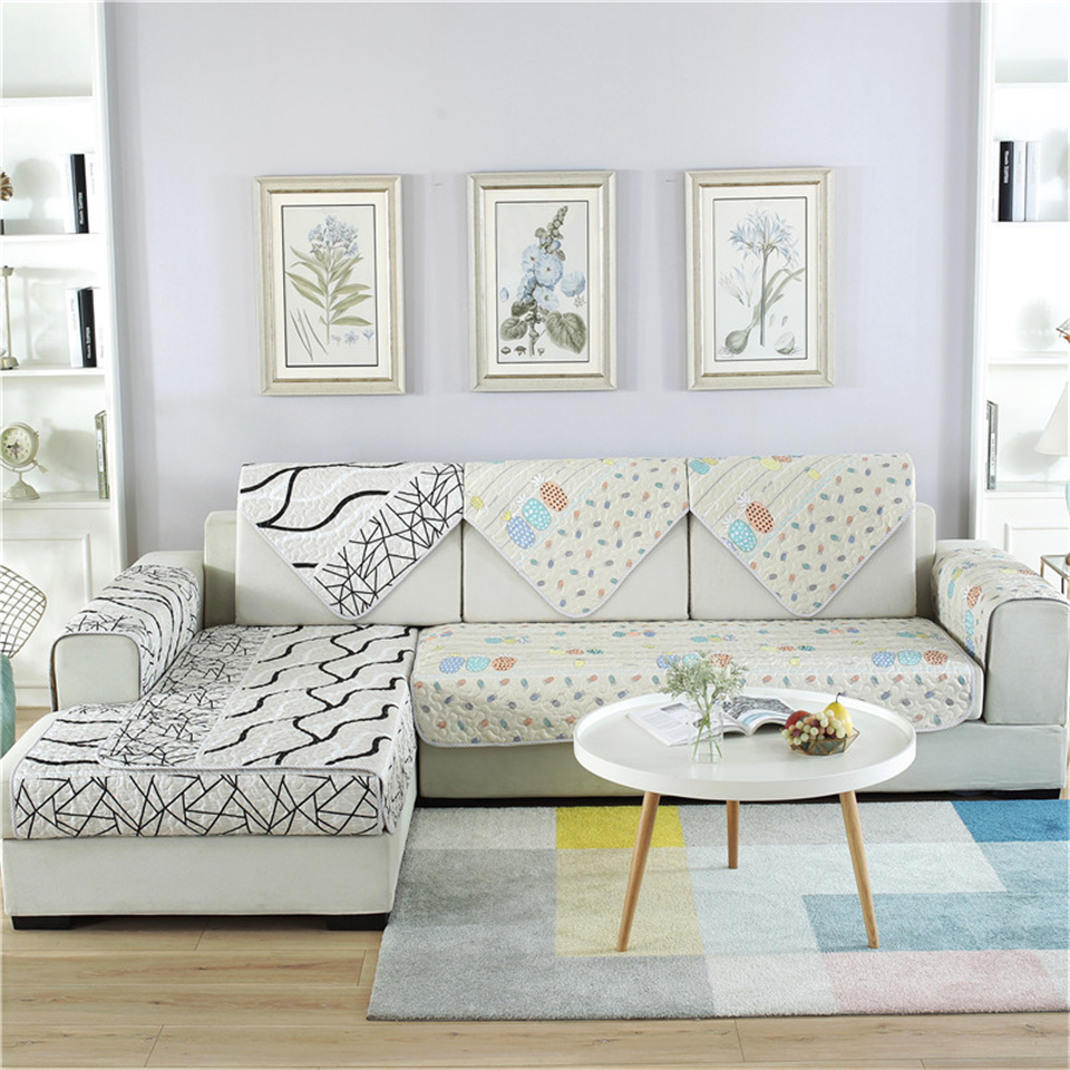 Parkshin Modern Sofa Cover Nordic Euro Living Room Gray Luxury Plaid Couch Meeting Case Corner Seat Covers