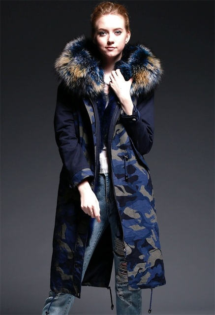 Aliexpress.com : Buy Luxury Big Fox Fur Collar Coat Women's Real ...