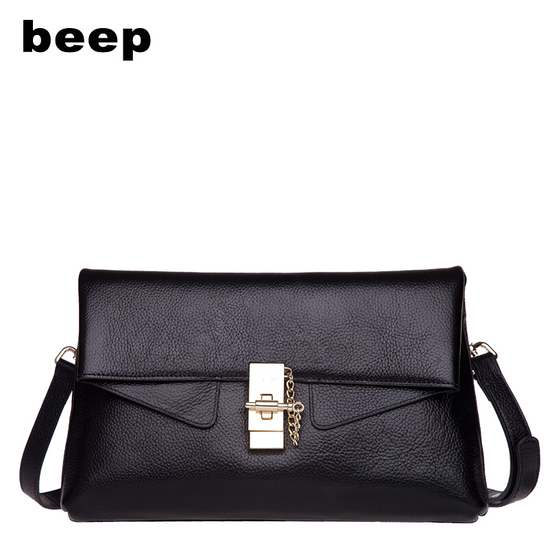 Beep  2018 leather ladies shoulder bag Classic wild cross pattern commuter bag hit the color Crossbody bagBeep  2018 leather ladies shoulder bag Classic wild cross pattern commuter bag hit the color Crossbody bag