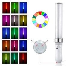 15 цветов светодиодный светящийся праздничный Домашний Светильник, вечерние, свадебные, на батарейках, флуоресцентный, для кемпинга, вокала, концертов, Декор