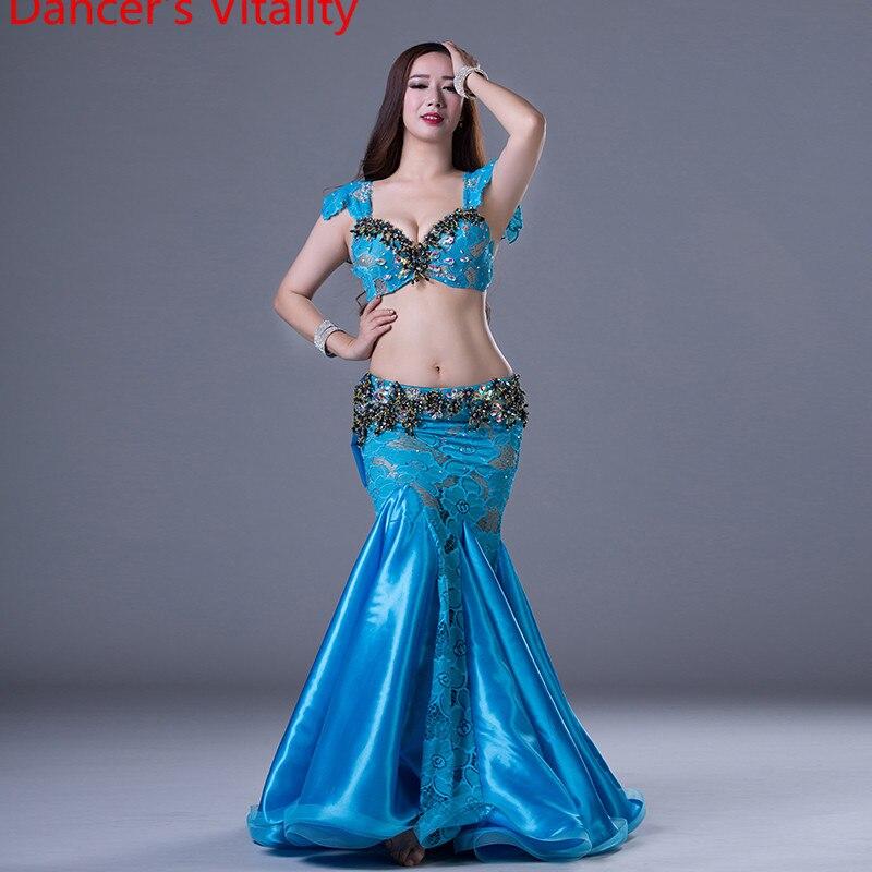Dancer's Vitality Senior Belly Dance Costumes Women Ballroom Dance Suit Dancer's 2pcs Stage Set For Girls Dance Clothes
