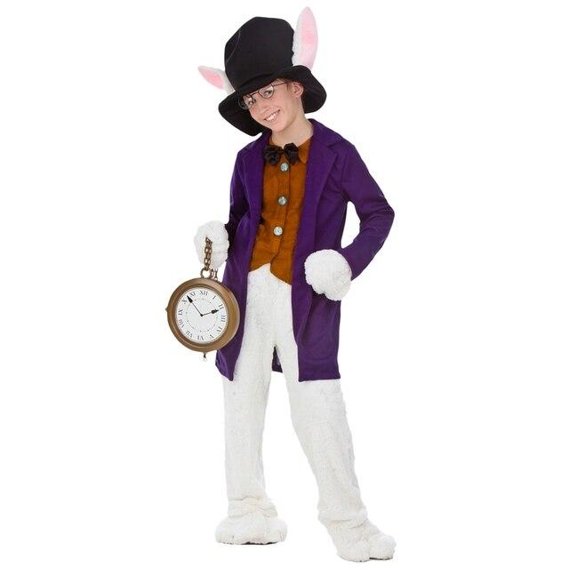 Deluxe Kind Wit Konijn Cosplay Kleding Film Alice In Wonderland
