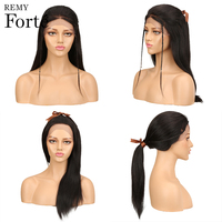 Remy Forte Lace Front Human Hair Wigs Remy Brazilian Human Hair Wig Straight 14/18/22/26 Inch Human Hair wig 1b/2 human Hair wig