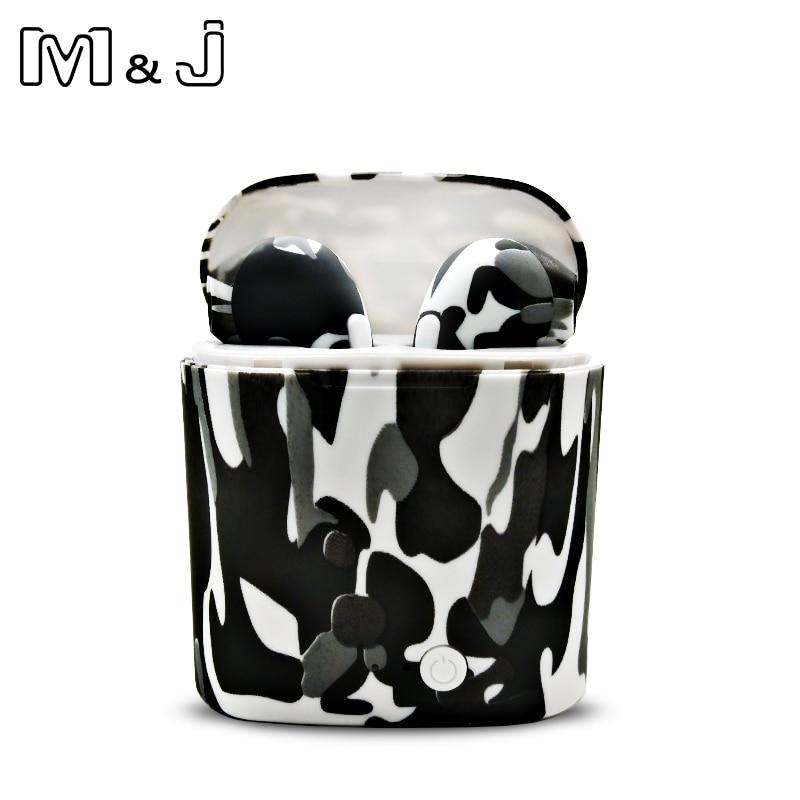 M&J I7S TWS Camo Earbuds Wireless Bluetooth Double Earphones All Bluetooth Mobile 12