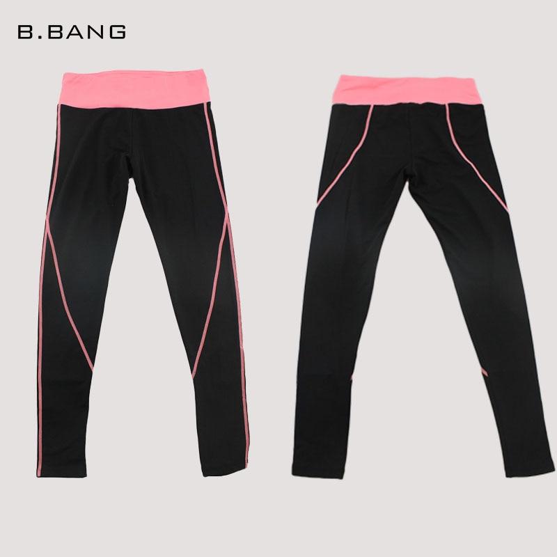 B.BANG Women Yoga Sports Pants Elastic Tights Female