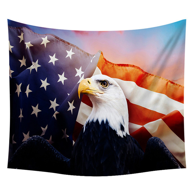 Tapestry Independence Day Print Home Tapestry Wall Hanging Wall Decoration Bed Cover Room Divider Table Cloth#523g40