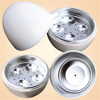 White Ball Shape Microwave 4-6 Eggs Cooker