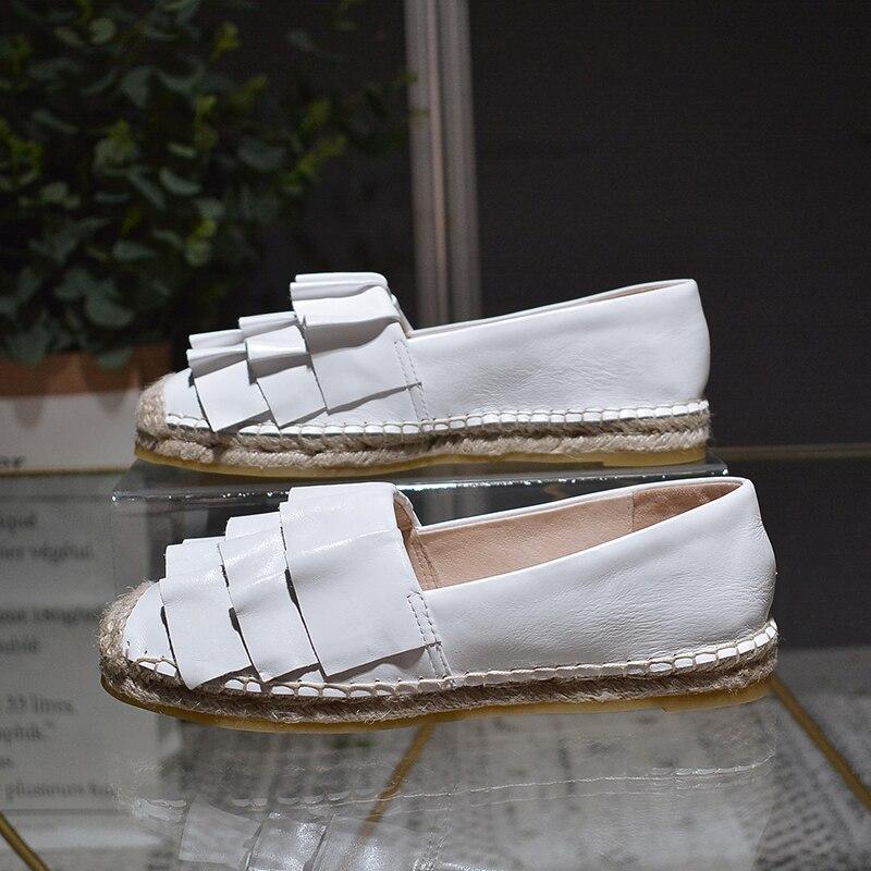 New genuine leather shoes women ladies shoes chaussures femmes de luxe de marque espadrilles women цена