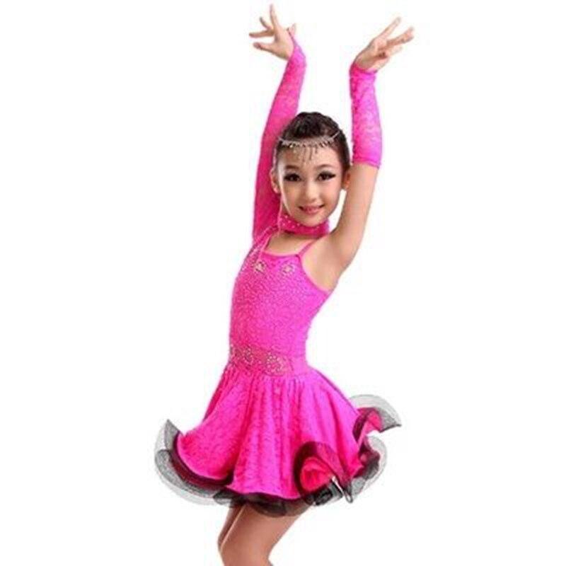 Nueva Marca Diseño niños sola manga Latino danza exquisita ...