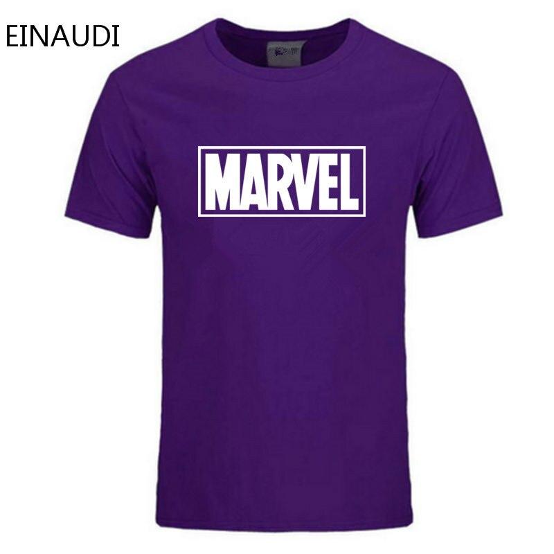 Einaudi New Fashion Marvel T-shirt Men Cotton Short Sleeves Casual Male Tshirt Marvel T Shirts Men Tops Tees Free Shipping #3