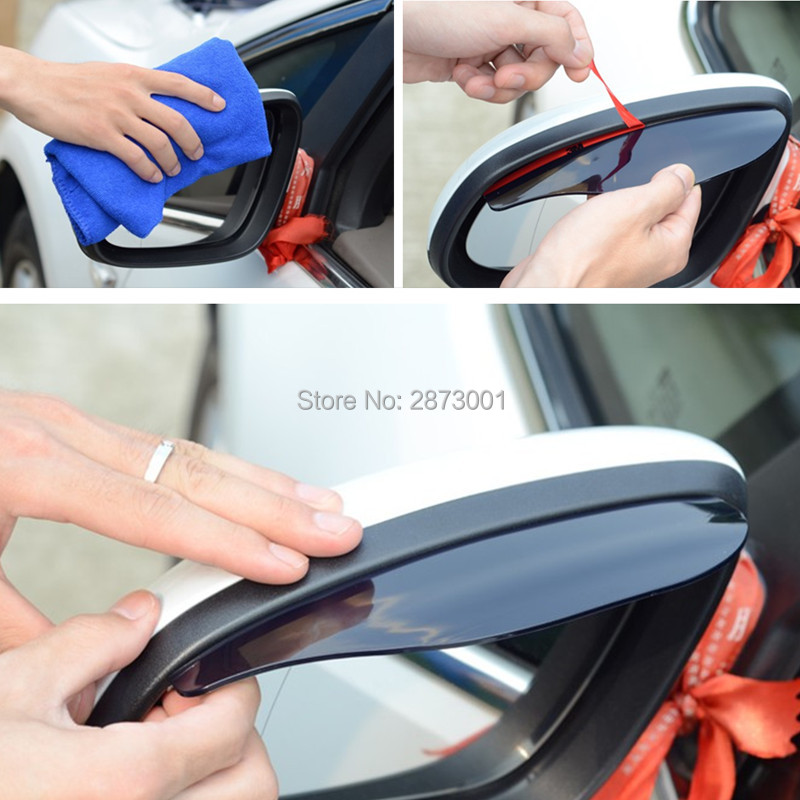 2Pcs Car Accessories Rearview Mirror Rain Shade for citroen c3 honda hrv <font><b>chevrolet</b></font> peugeot 207 nissan versa tucson image