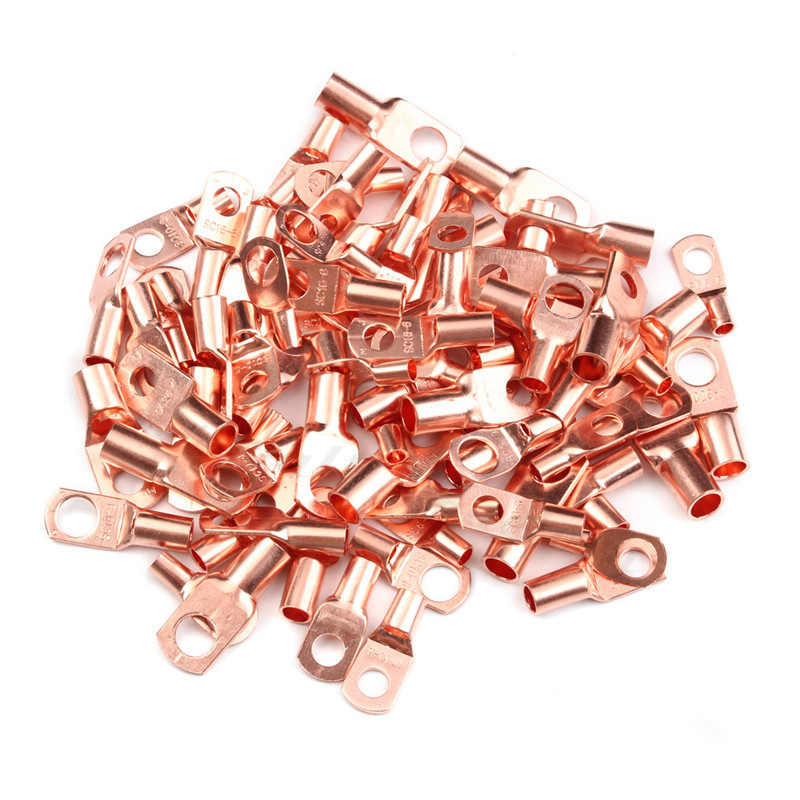 10Pcs Bolt Hole Tinned Copper SC6-SC25 Lugs Battery Terminals  Set Electric Wire Cable Connectors Assortment Kit