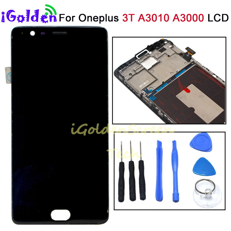 for Oneplus 3 Lcd Screen Display Screen Tested Screen With Frame Replacement For Oneplus 3T A3010