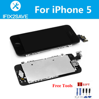 LCD Display With Touch Screen Digitizer For IPhone 5 Assembly Replacement With Smart Part Front Camera