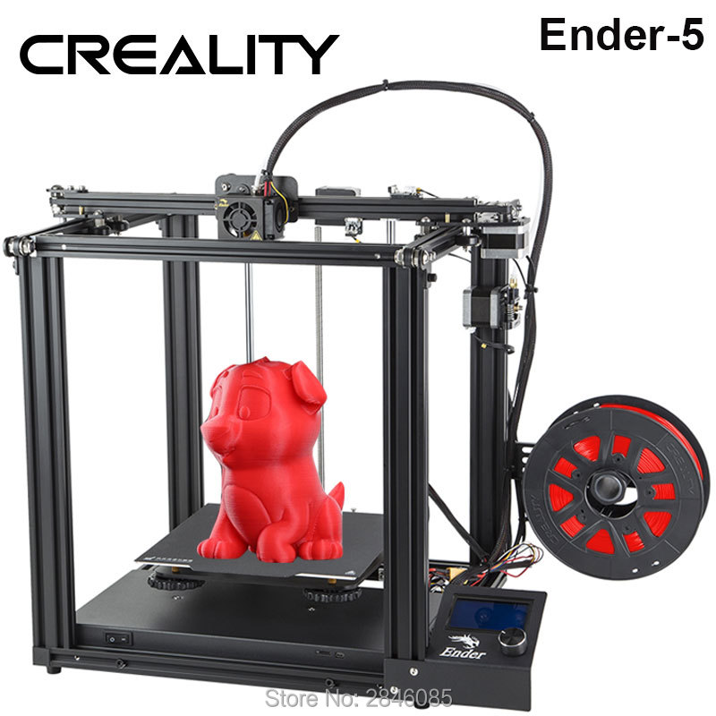 Image 2 - CREALITY 3D Printer Ender 5 Dual Y axis Motors Magnetic Build Plate Power off Resume Printing Enclosed Structure-in 3D Printers from Computer & Office