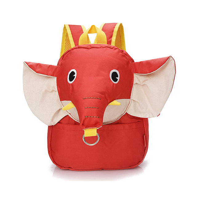 Anti-lost Baby Backpack 3D Elephant Dimensional Children Lovely Baby Bag Infant Small Shoulders Bag for Aged 1-3 Years Wholesale