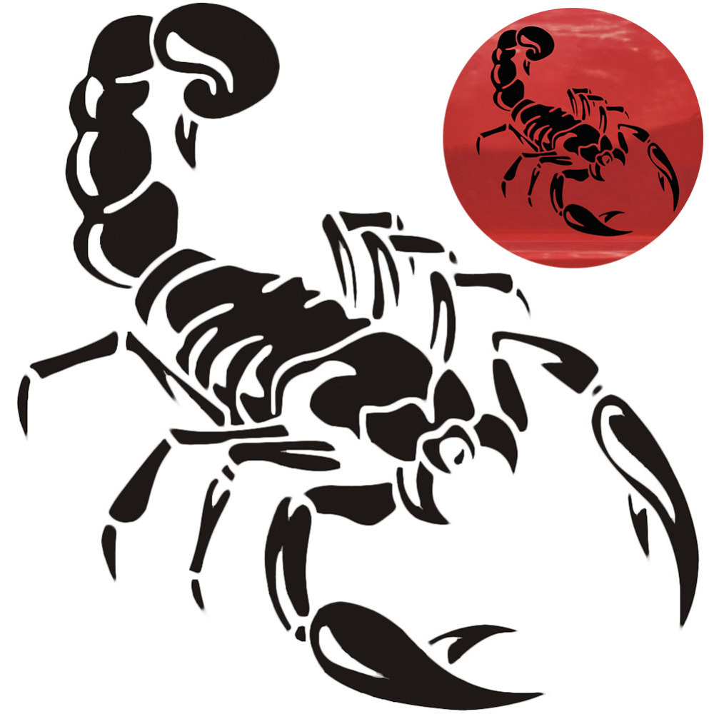 30cm Cute 3D Scorpion Car Stickers Car Styling Vinyl Decal Sticker For Cars Acessories Decoration