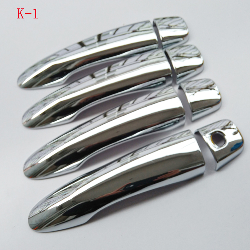 For Nissan PULSAR C13 Tiida  2015 - 2018 ABS chrome door handle cover car styling auto accessories
