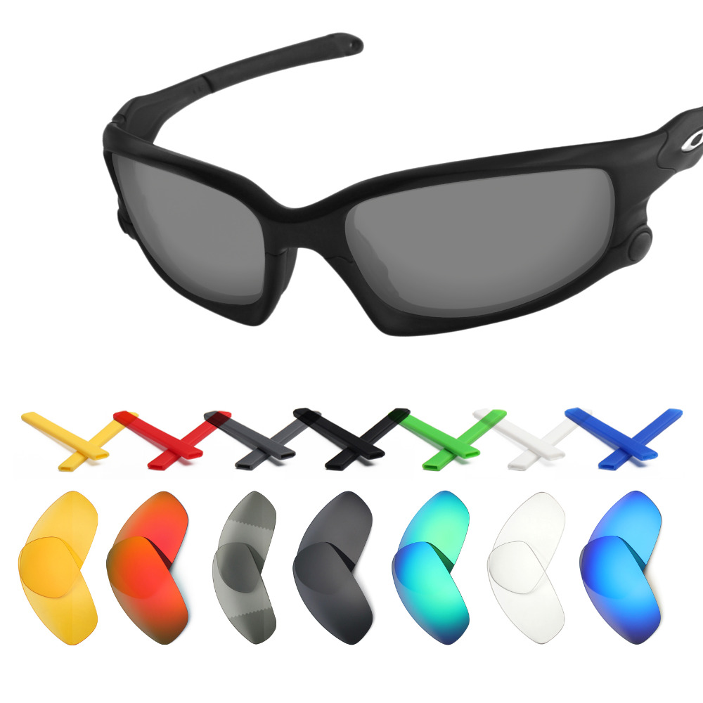Options 20Off Split In mryok Replacement 8 Men's For Oakley Ear Socks And Earsocks Jacket Sunglasses Black Lenses Us16 Kit Multiple FKJclT13