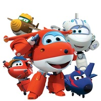 New coming Style!!! Big!!! 15 cm  Super Wings Mini Figures Robot Toys Superwings Q Version Cute  for Birthday Gift toy